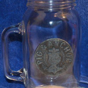 Mason Jar Mug Pig and Anchor Smokehouse Brewhouse